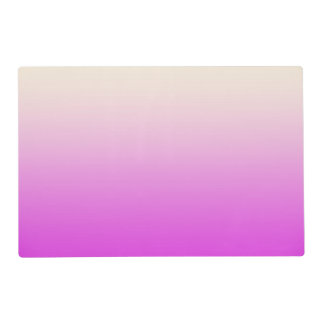 Trendy Neon Purple to Vintage White Ombre Gradient Laminated Placemat