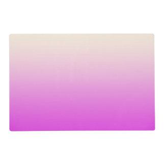 Trendy Neon Purple to Vintage White Ombre Gradient Placemat