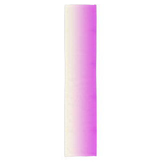 Trendy Neon Purple to Vintage White Ombre Gradient Short Table Runner