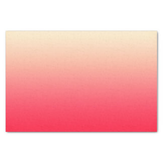 """Trendy Neon Red to Vintage White Ombre Gradient 10"""" X 15"""" Tissue Paper"""