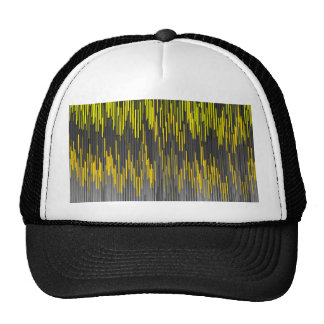 Trendy Neon Yellow  black  ZigZag Chevron Pattern Trucker Hat