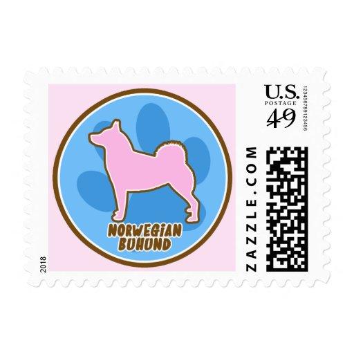 Trendy Norwegian Buhund Stamp