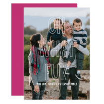 Trendy Oh What Fun Overlay Holiday Flat Card