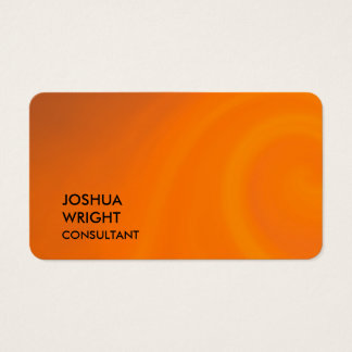 Trendy Orange Attractive Plain Rounded Corner Business Card