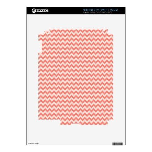 Trendy   Orange Chevron Stripe iPad 3 Skins