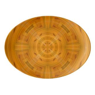 Trendy Orange Circle Pattern Porcelain Serving Platter