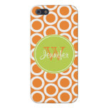 Trendy Orange & Lime Green Pattern, iPhone 5 iPhone 5 Cases