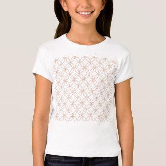 Trendy orange quatrefoil pattern T-Shirt