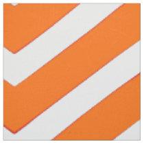 Trendy Orange white  chevron Pattern cool fabric
