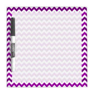 Trendy Orchid Purple Chevron White Dry-Erase Board