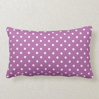 Trendy Orchid Purple Polka Dots Pattern Pillows