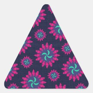 Trendy Oriental Vintage Pattern Design Gifts Triangle Sticker