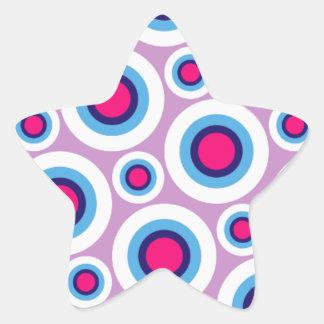 Trendy Oriental Vintage Patterns Star Sticker