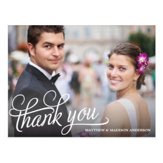 TRENDY OVERLAY | WEDDING THANK YOU POST CARD