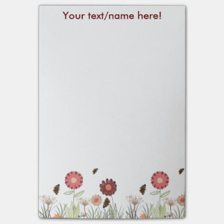 Trendy painted marsala colored pattern post-it notes