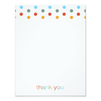 Trendy Painted Polka Dots Thank You Note Card