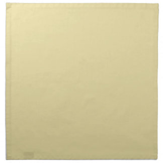 Trendy Pale Yellow Solid Color Printed Napkin
