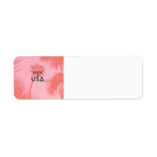 Trendy Palm Tree Bright Peach Made In  USA Type Label
