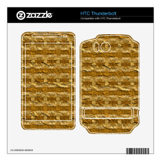Trendy paper pattern decal for HTC thunderbolt