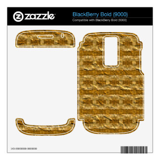 Trendy paper pattern BlackBerry decal