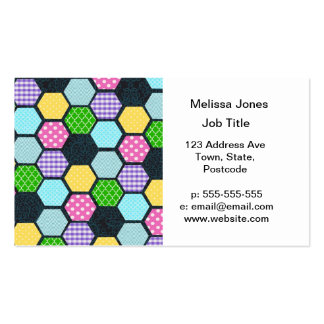 Trendy Pastel Girly honeycomb pattern Double-Sided Standard Business Cards (Pack Of 100)