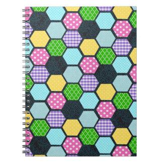Trendy Pastel Girly honeycomb pattern Journal