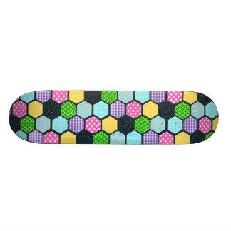 Trendy Pastel Girly honeycomb pattern Skateboard