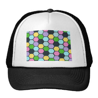 Trendy Pastel Girly honeycomb pattern Trucker Hat