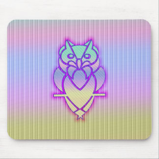 Trendy Pastel Owl Mouse Pad