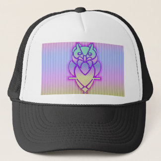 Trendy Pastel Owl Trucker Hat