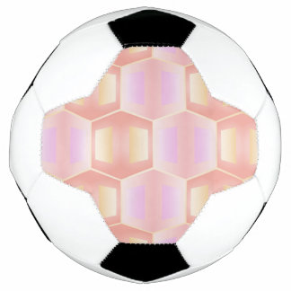 trendy pastel pattern 01b (I) Soccer Ball