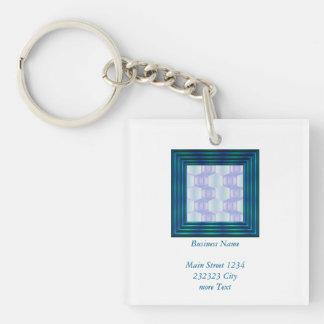 trendy pastel pattern 01d (I) Keychain