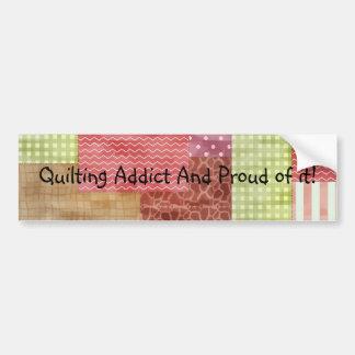 Trendy Patchwork Quilt Bumper Sticker