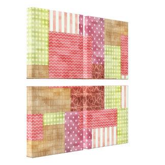 Trendy Patchwork Quilt Canvas Print