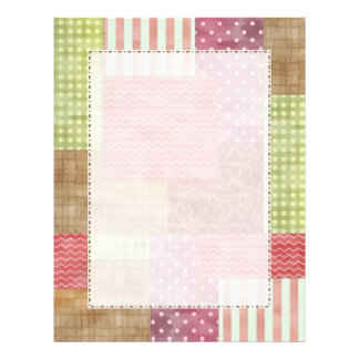 Trendy Patchwork Quilt Letterhead