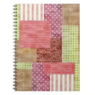 Trendy Patchwork Quilt Notebook