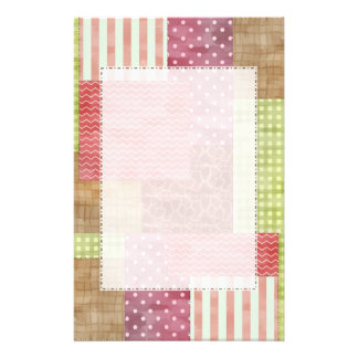 Trendy Patchwork Quilt Personalized Stationery