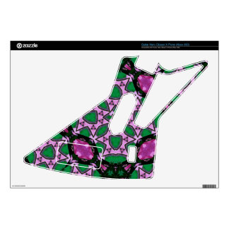 Trendy Pattern  green purple Guitar Hero Decal