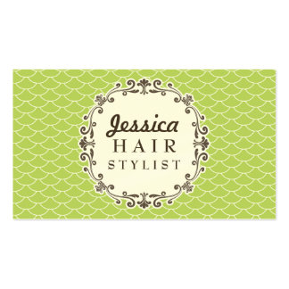 Trendy Pattern Hair Stylist Appointment Cards