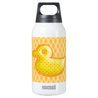 Trendy Patterned Rubber Ducky Insulated Water Bottle