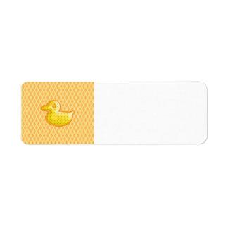 Trendy Patterned Rubber Ducky Return Address Labels