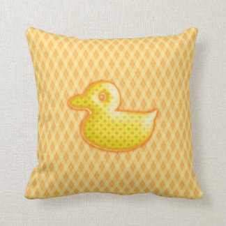 Trendy Patterned Rubber Ducky Throw Pillow