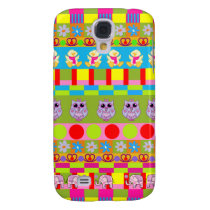 Trendy Patterns, Owls, Elephants, Ducks Samsung S4 Case