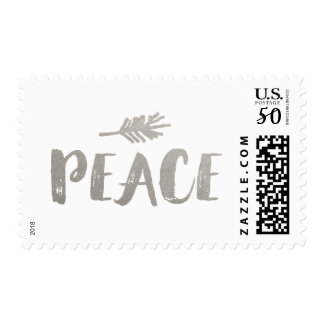 Trendy Peace Holiday Postage - Silver