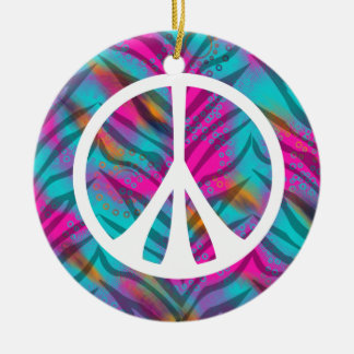 Trendy Peace Sign Ornament