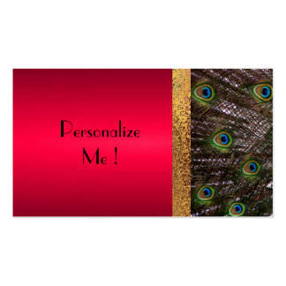 Trendy Peacock Elegant Modern  / House-of-Grosch Business Card