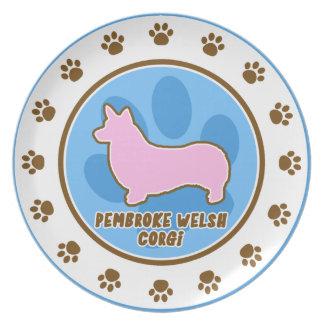 Trendy Pembroke Welsh Corgi Plate