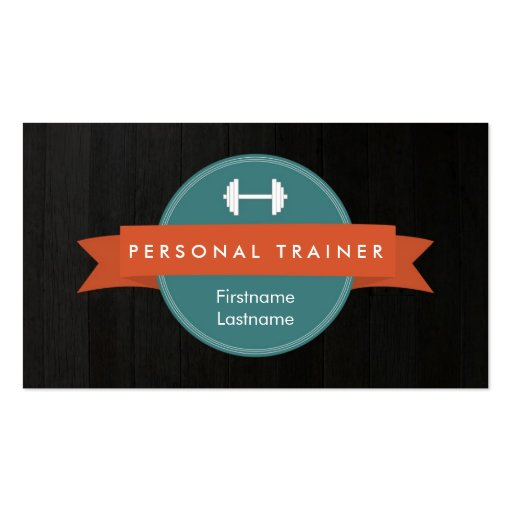 Trendy Personal Trainer Fitness Business Cards