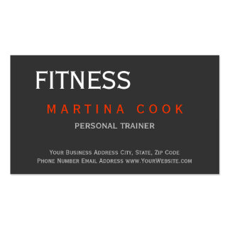 Trendy Personal Trainer Modern Business Card