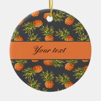 Trendy Personalized Pineapple Ceramic Ornament